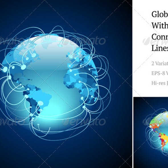 Globe With Connections