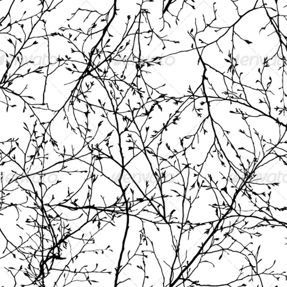 Seamless Vector Texture of the Branches