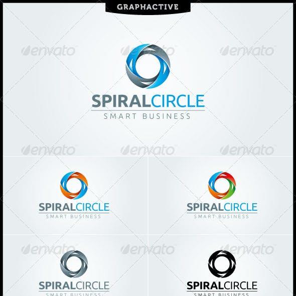 Spiral Circle Letter O Logo Template