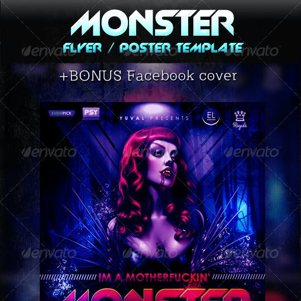 Monster Poster Template