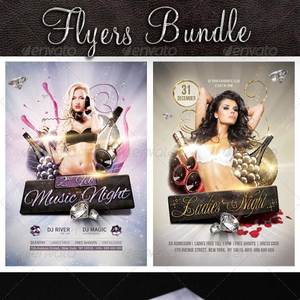 Bundle Flyer Music Night and Ladies Night
