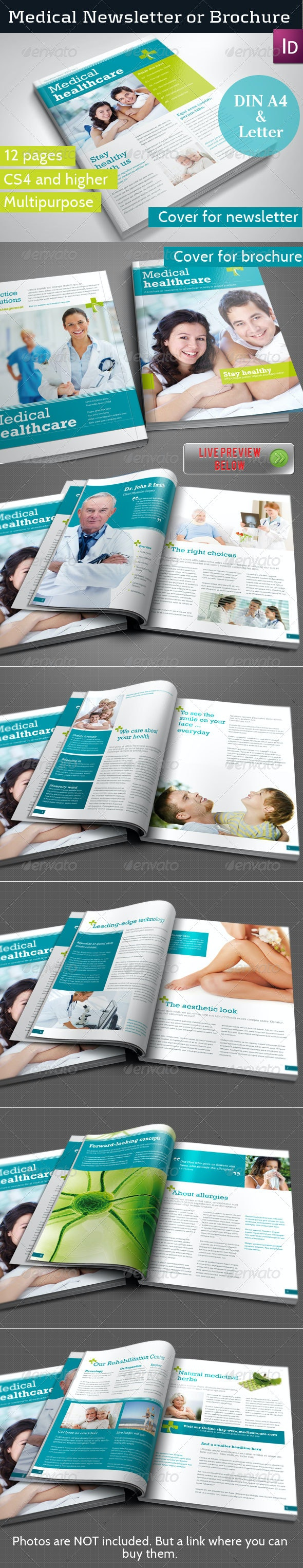 Medical Newsletter Template - Newsletters Print Templates