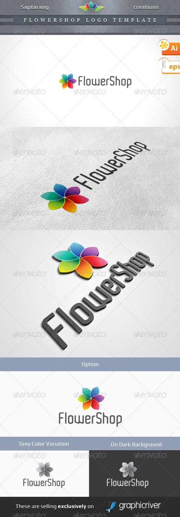 Flowershop Logo Template - Vector Abstract