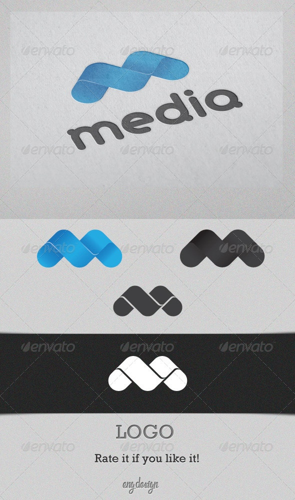 Media - Letters Logo Templates