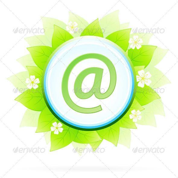 Icon Button Internet and E-mail