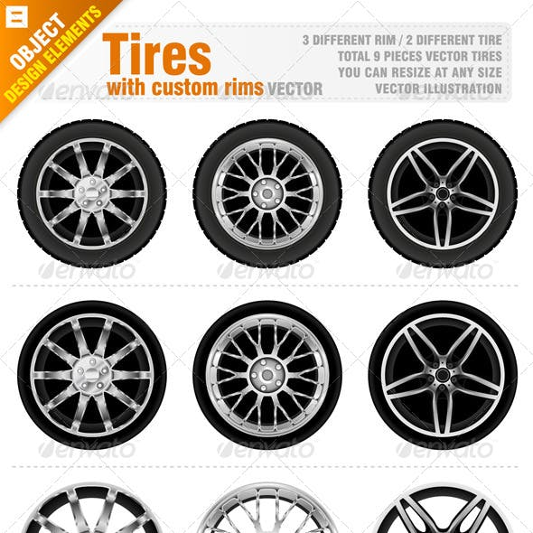 Tires with Custom Rims