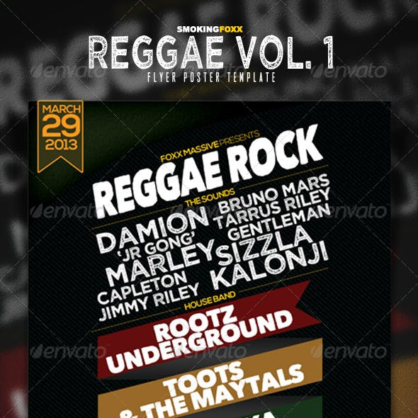 Reggae Flyer/Poster Vol. 1