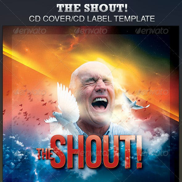 The Shout CD Artwork Template