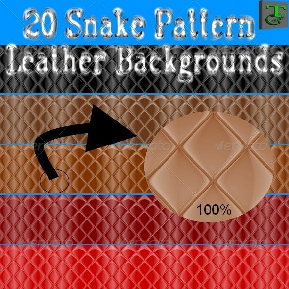 20 Snake Pattern Leather Backgrounds