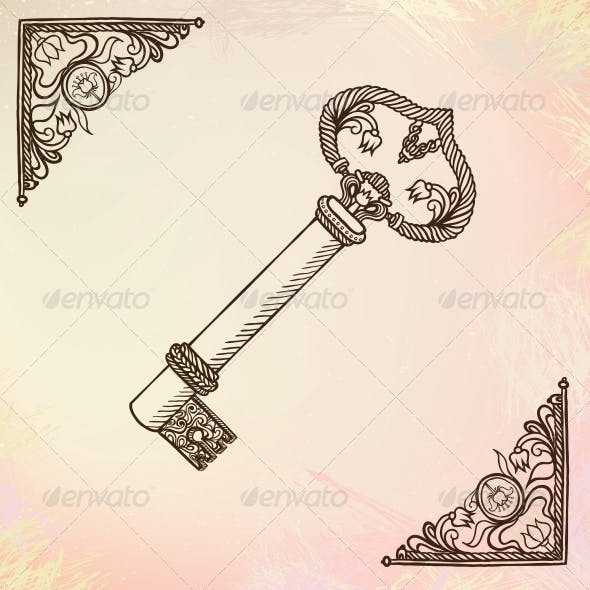 Vector Illustration of a Key