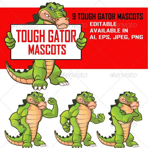 Tough Gator Mascot