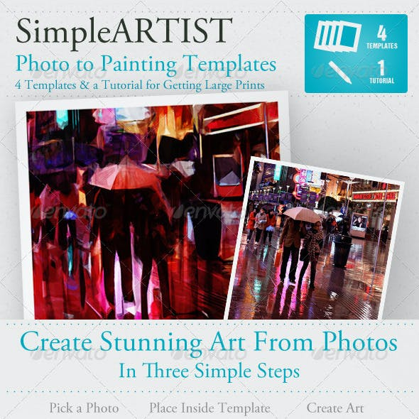 Simple Artist Painting Template