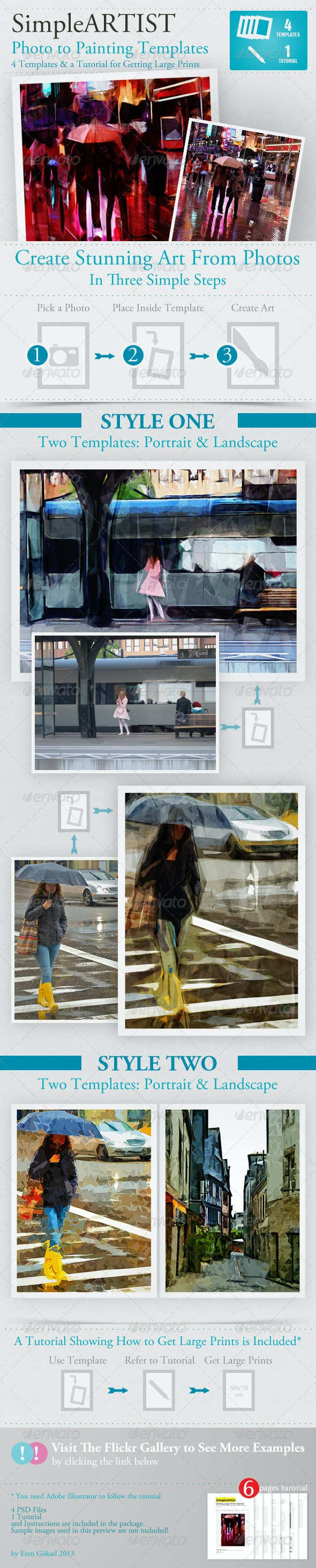 Simple Artist Painting Template - Artistic Photo Templates