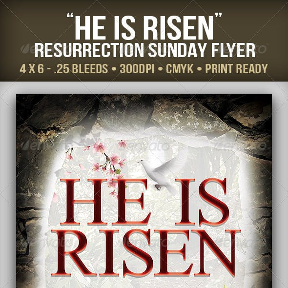 """He is Risen"" Resurrection Sunday Flyer"