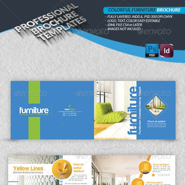 Colorful Furniture Brochure