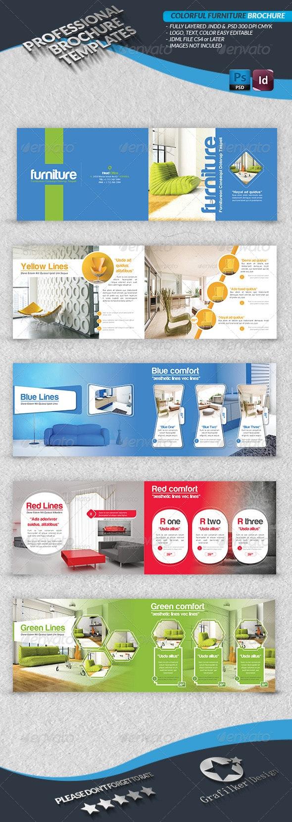 Colorful Furniture Brochure  - Catalogs Brochures