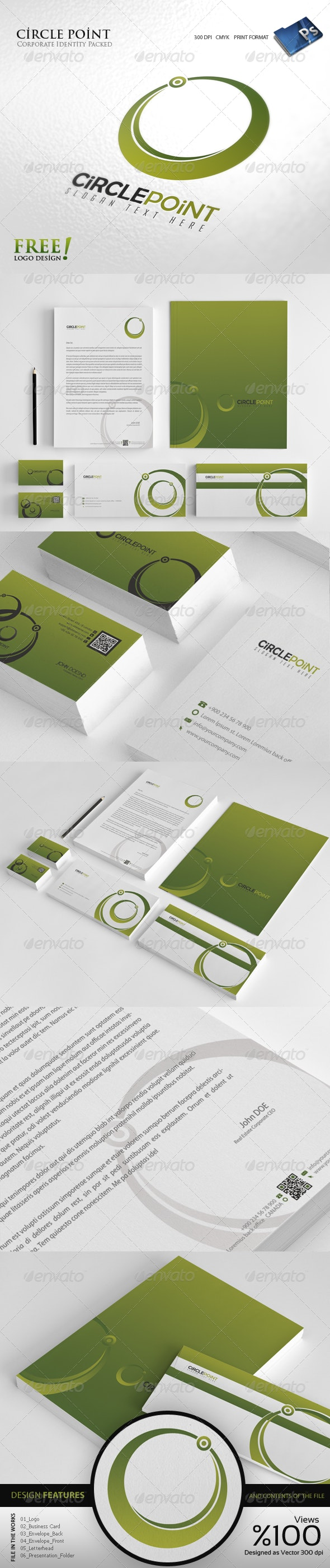 Circle Point - Corporate identity - Stationery Print Templates