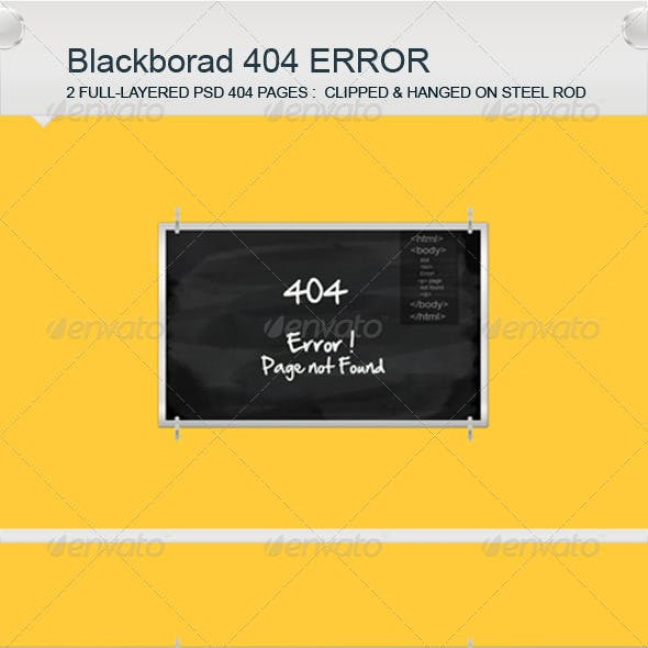 Black Board 404 Error Pages