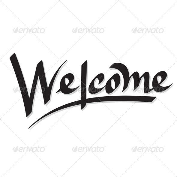 Welcome Hand Lettering (Vector) - Decorative Symbols Decorative