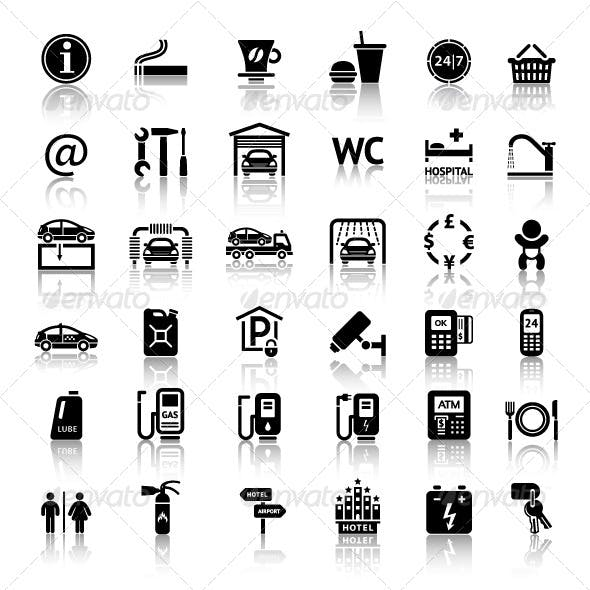 Car Services 36 Icons