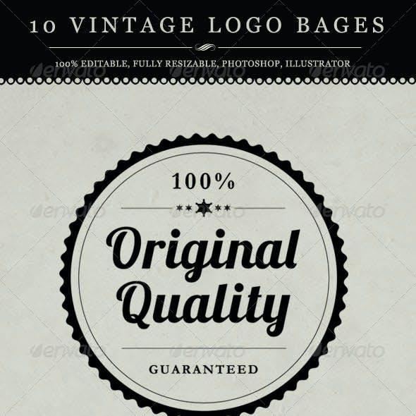 10 Vintage Logo Badges