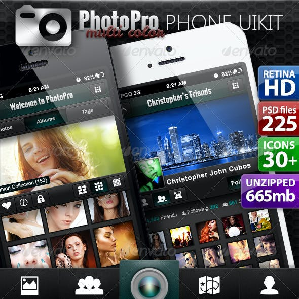PhotoPro Mobile Application iOS and Android UI Kit