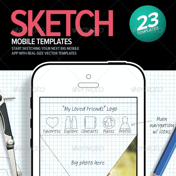 Mobile Sketching & Wireframing Templates