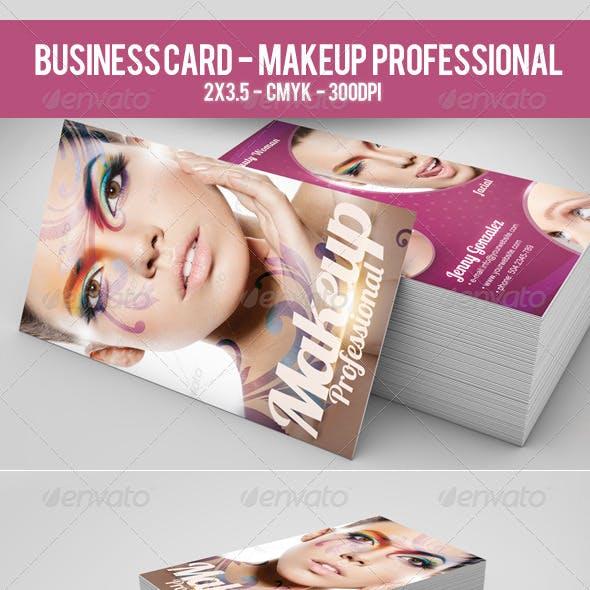 Business Card Makeup Professional
