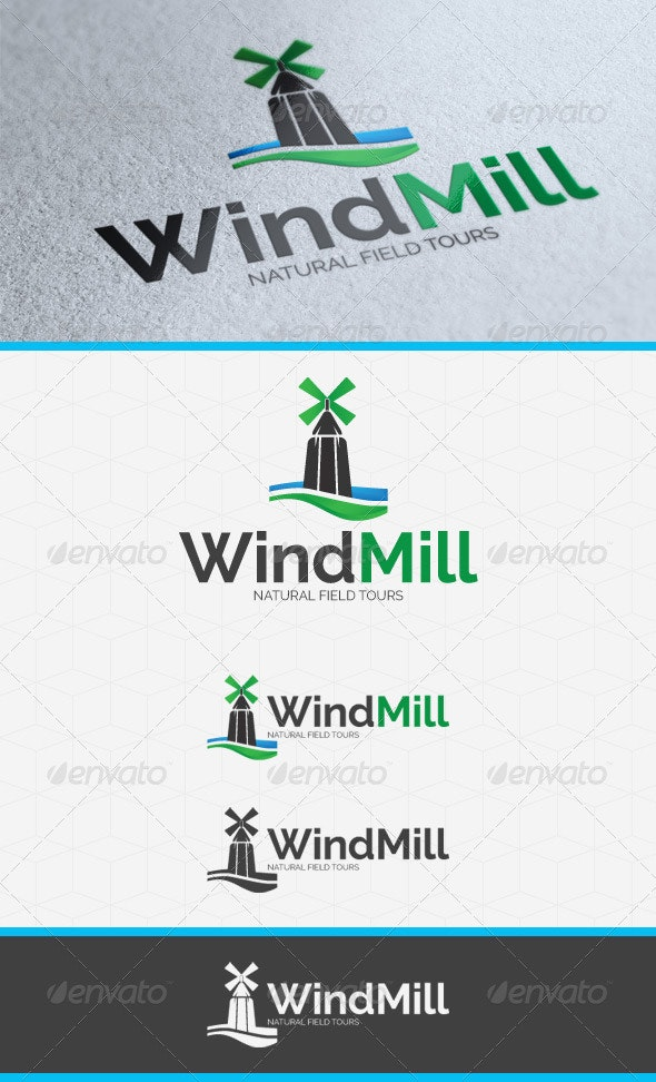 WindMill Logo Template - Objects Logo Templates