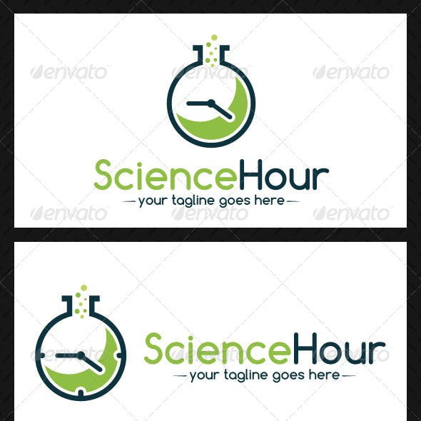Science Time Logo Template