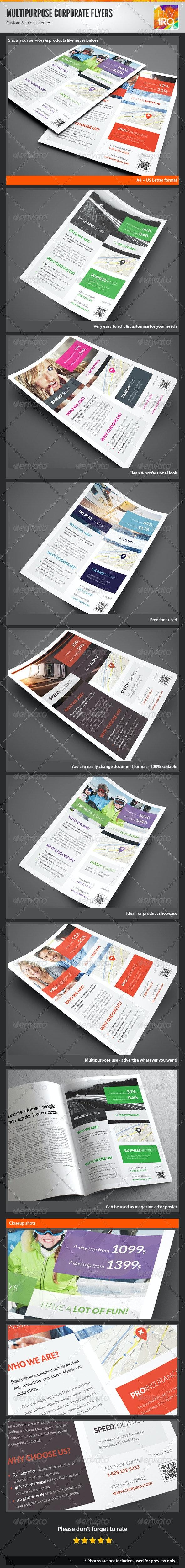 Multipurpose Corporate Flyers, Magazine Ads Vol 12 - Corporate Flyers
