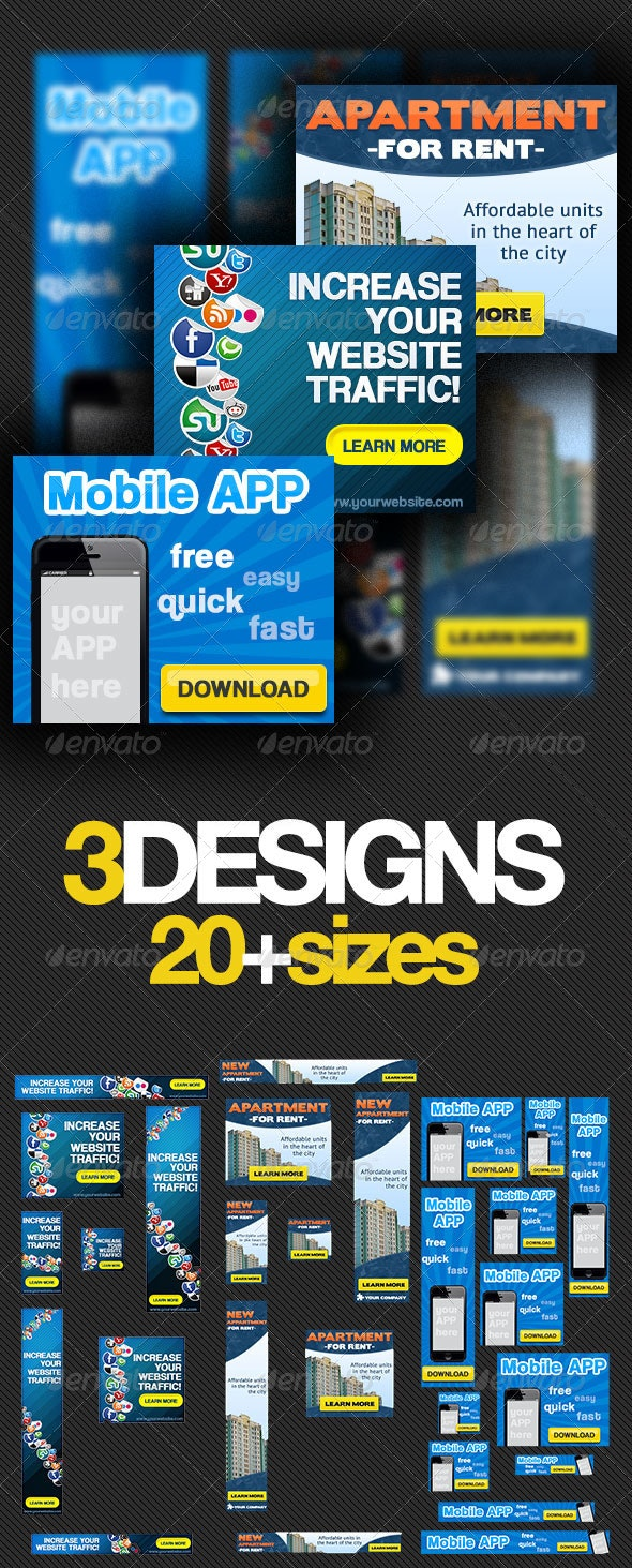 Multipurpose Banner Ads Bundle 2.0 - Banners & Ads Web Elements
