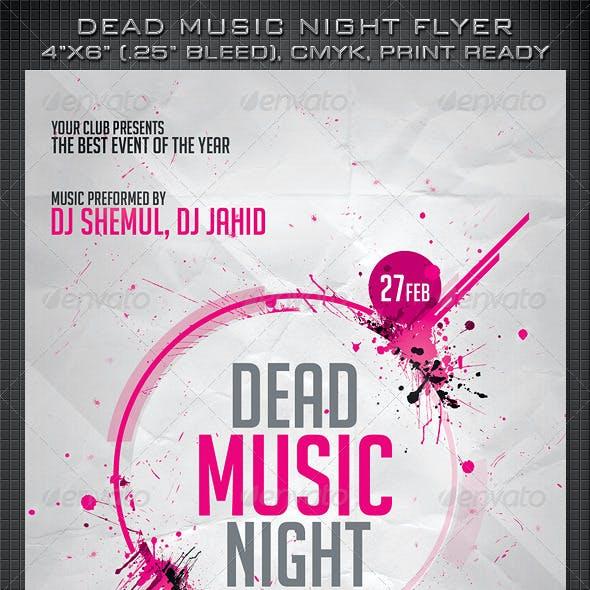 Dead Music Night Flyer