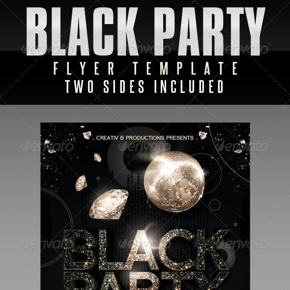 Black Party Flyer Templates