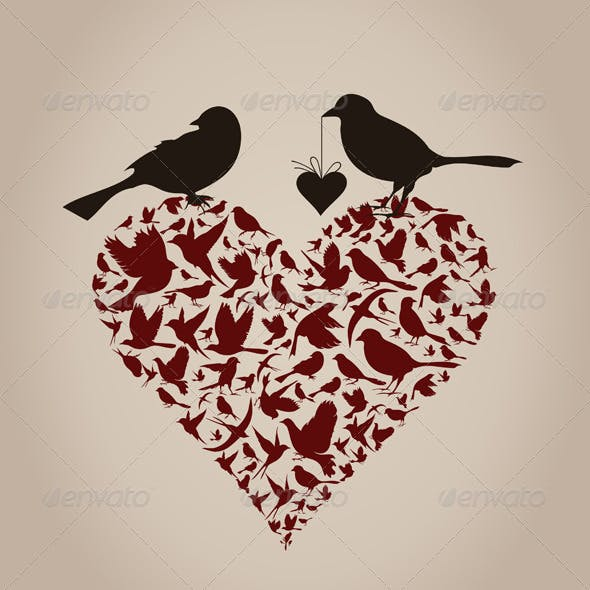 Birds on Heart