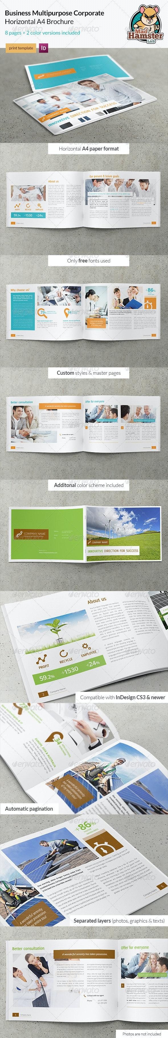 Business / Corporate Multi-purpose A4 Brochure - Corporate Brochures