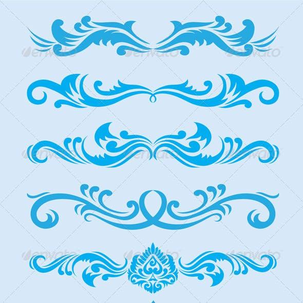 Blue Ornament Set