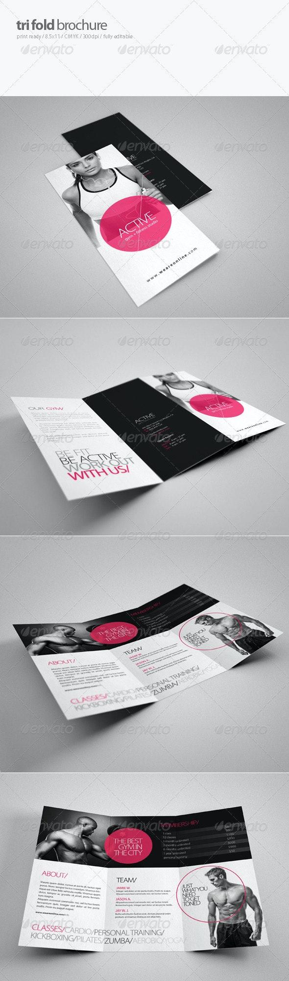 Fitness Tri-Fold Brochure 2 - Brochures Print Templates