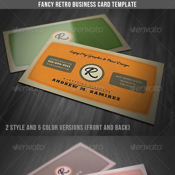 Fancy Retro Business Card