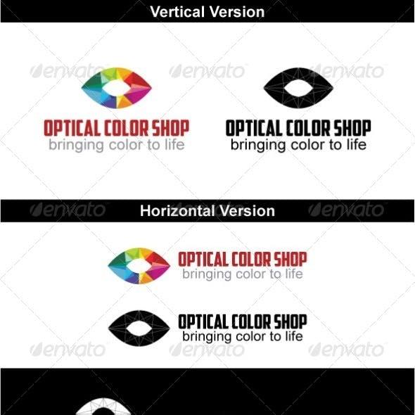 Optical Color Shop Logo Design