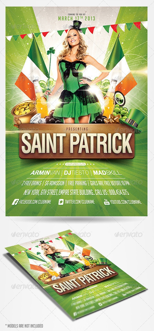 Saint Patricks Day Party Flyer - Clubs & Parties Events
