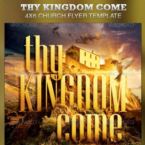 Thy Kingdom Come Church Flyer Template