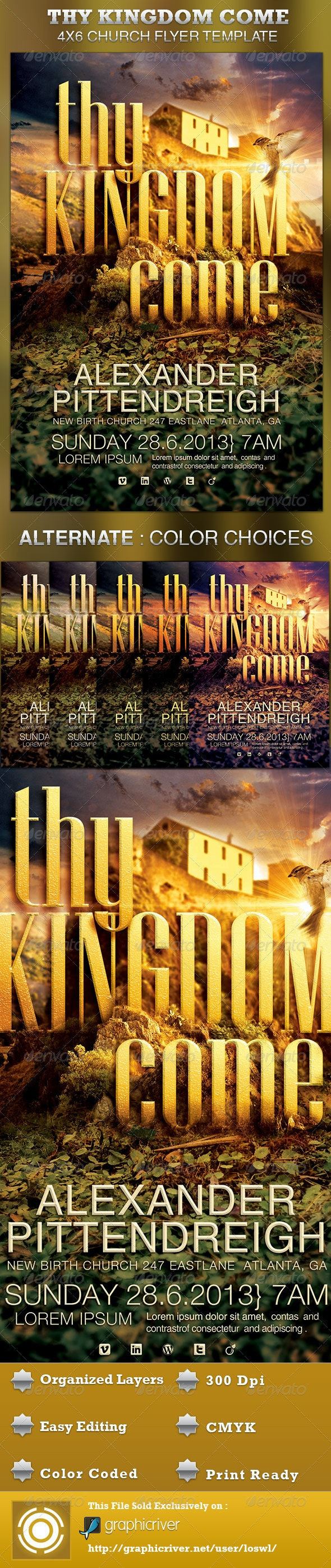 Thy Kingdom Come Church Flyer Template - Church Flyers