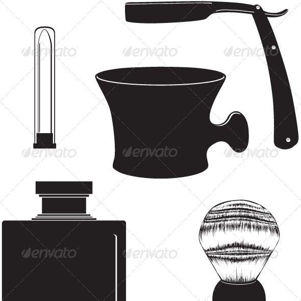 Classic Shaving Vector Set