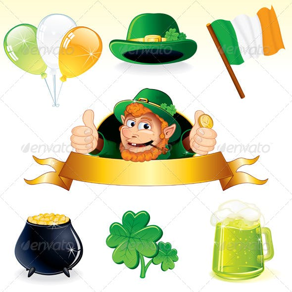 Vector Icons and Symbols for Patrick's Day