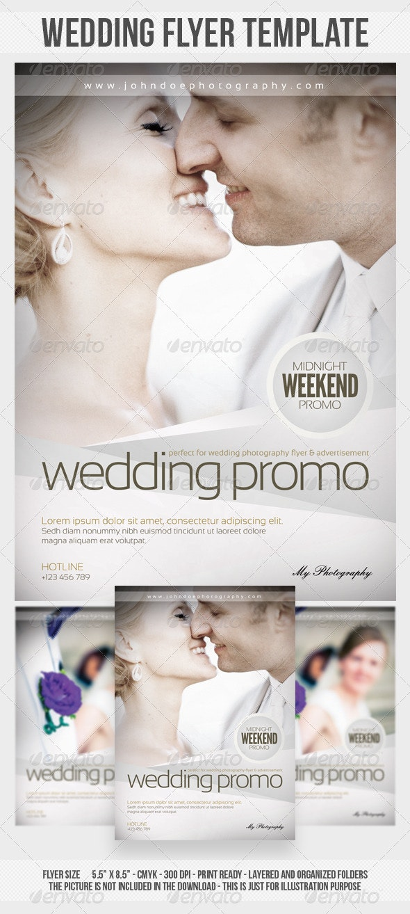 Wedding Photography Flyer Template - Events Flyers