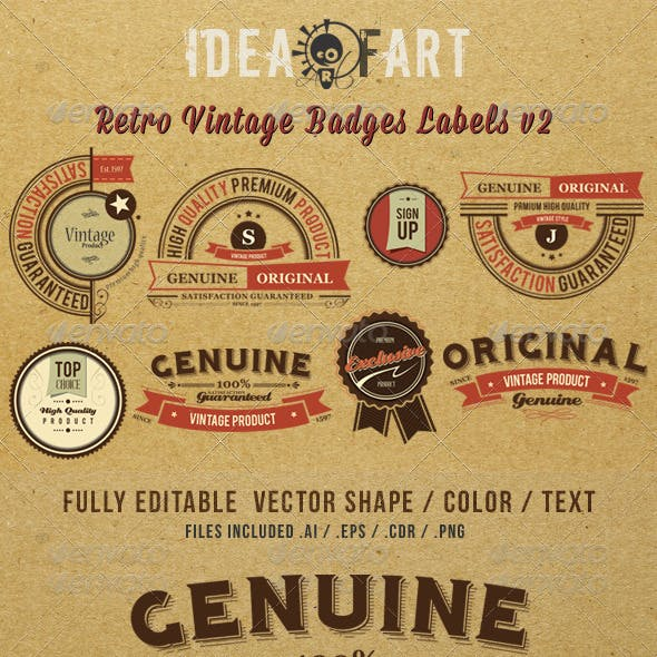 Retro Vintage Badge & Label v3