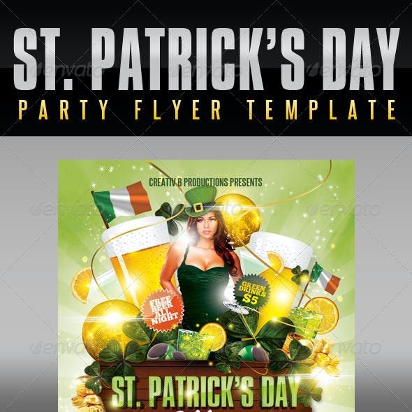St. Patrick's Day Party Flyer Template 3