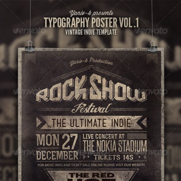 Typography Poster Vol 1