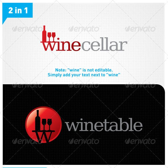Wine Logo 2in1